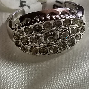 Size 5 Dinner Fancy Band Ring Sparkle High Quality